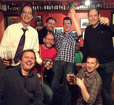 King's Head celebrate winning Division 1