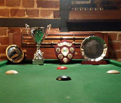 The Plate, the Cup and the Div 1 and Div 2 trophies