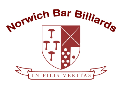 The Norwich Bar Billiards coat of arms and motto 'in pilis vertias'